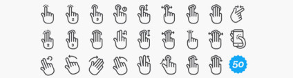 Gesture Icons Inspiration and Free Packages