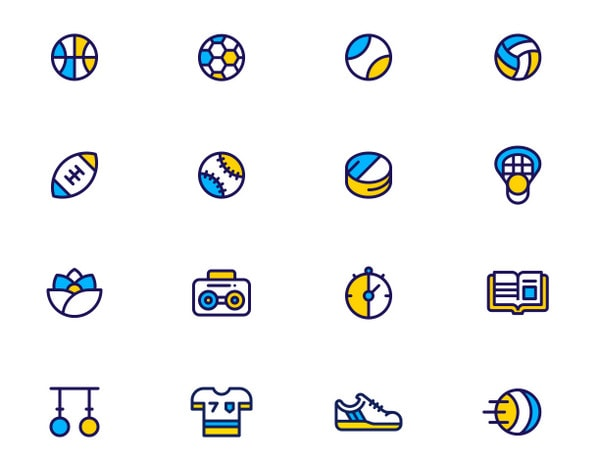 Sport & Fitness Icons by Dan Fleming