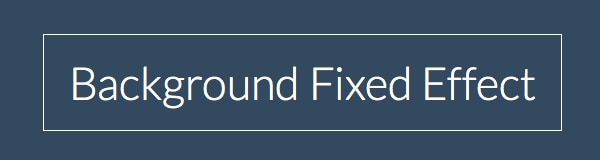 How to Create Background Fixed Effects