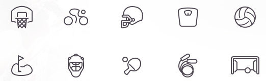 Free Sport Icons and New Examples