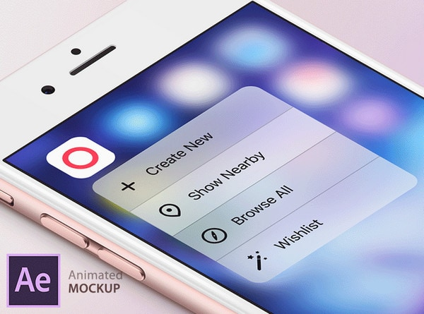 3D Touch Animated Mockup by Boris Borisov