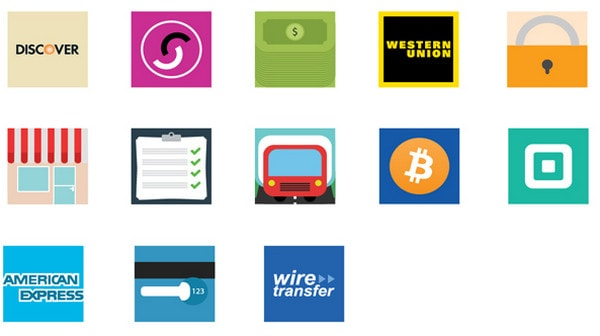 35 Flat E-Commerce Icons