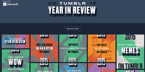 Year in Review by Tumblr