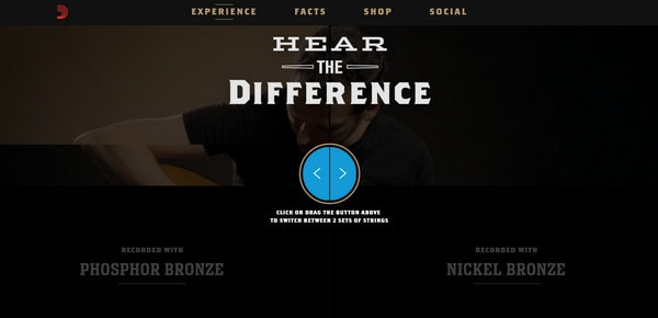 D'Addario Nickel Bronze Strings. Hear the difference