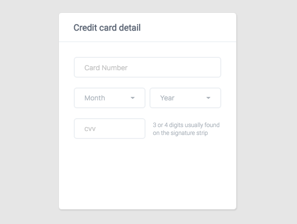How to Create a Credit Card UI using HTML and CSS3 - Designmodo