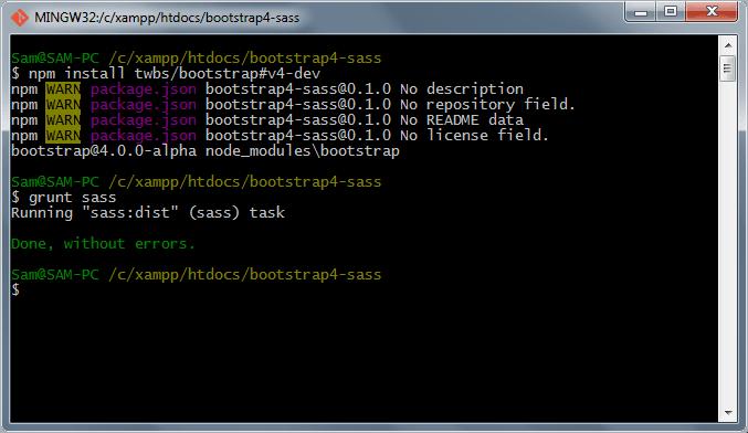 npm sass compile