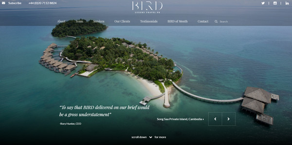 Bird Luxury Travel PR