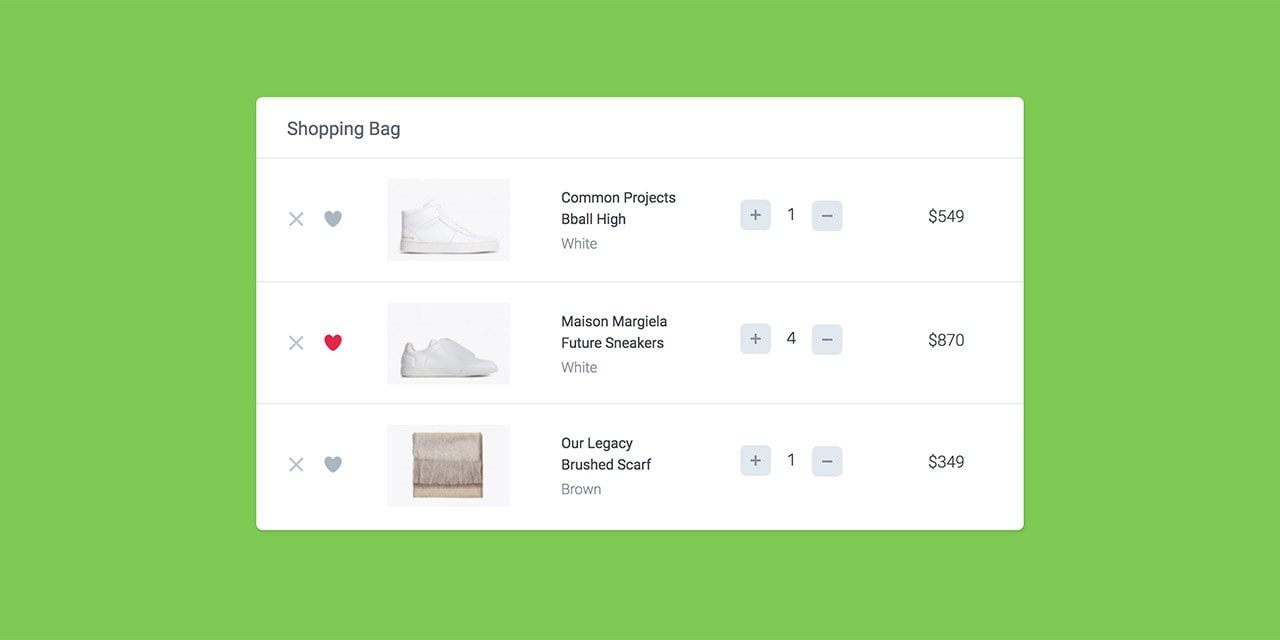 How to Create a Shopping Cart UI using CSS & JavaScript