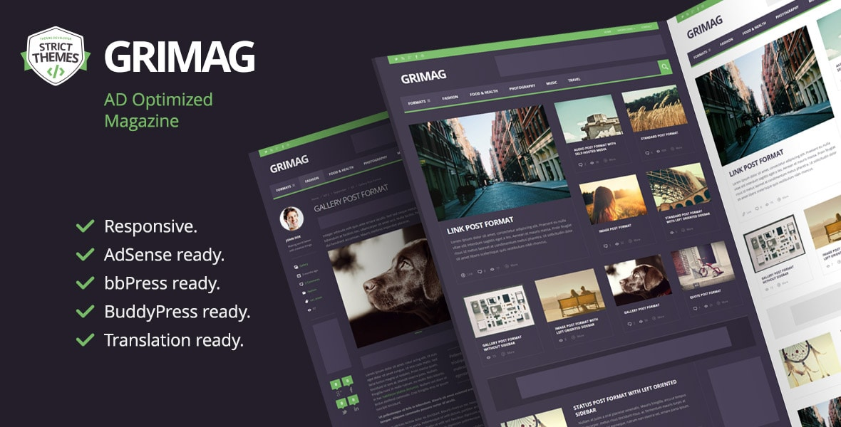 AdSense Optimized Magazine WordPress Theme