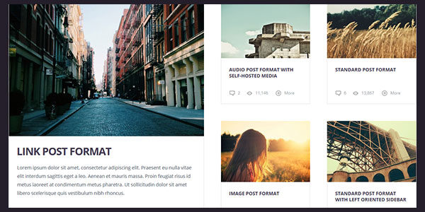 Grimag theme multiple post formats