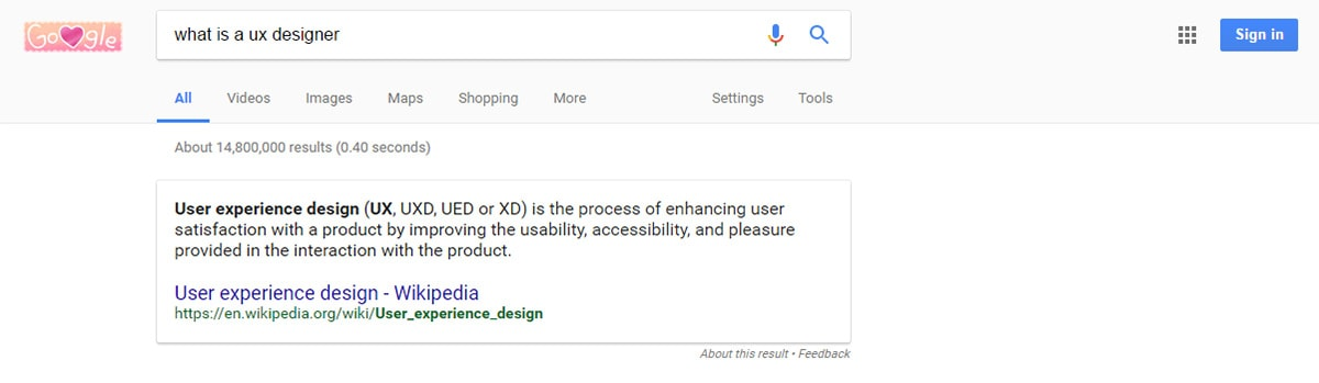 What is ux designer search