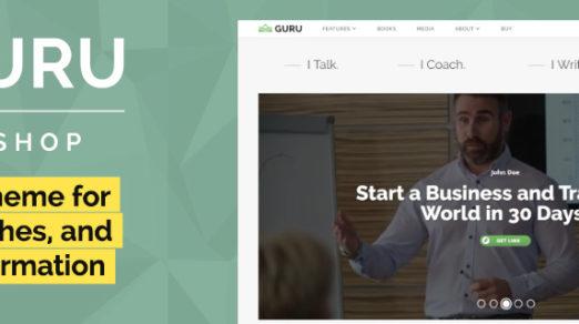 GuruBlog – WordPress Theme for Online Business