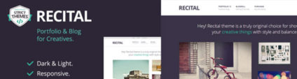 Recital, a WordPress Theme to Complement Your Creativity