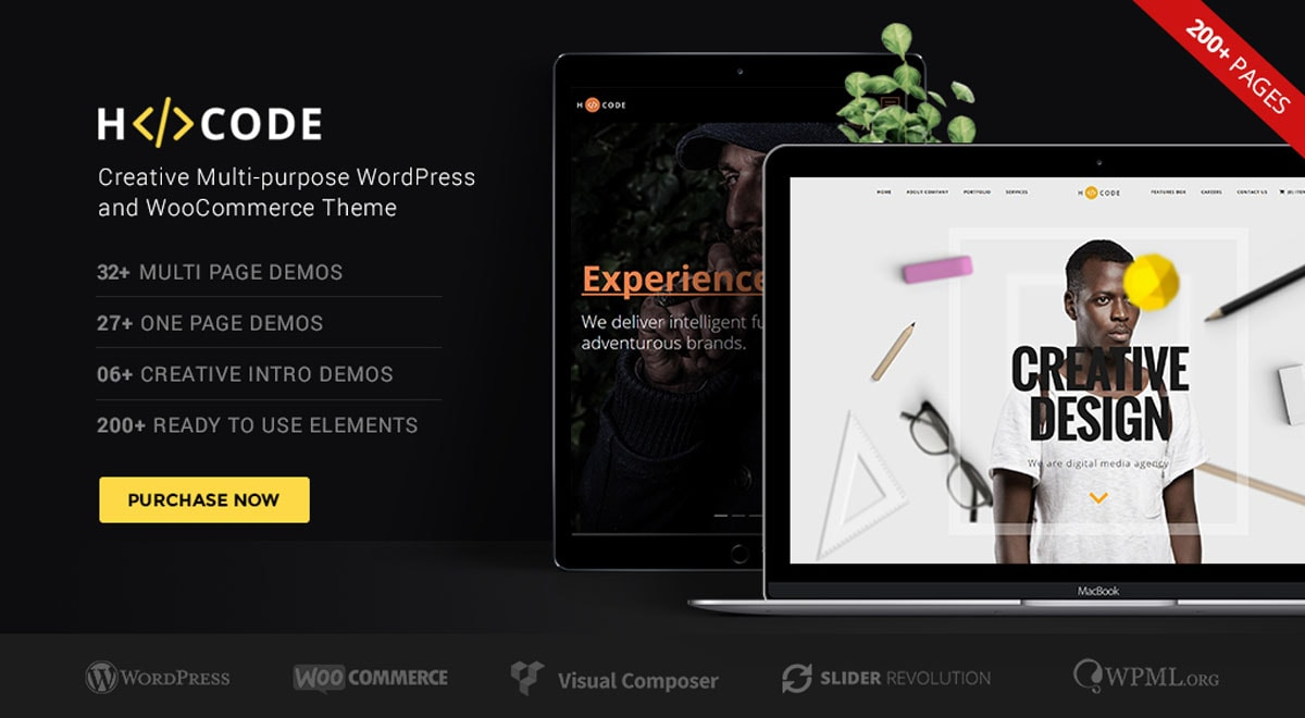 H-Code - A multi-purpose creative and flexible WordPress theme