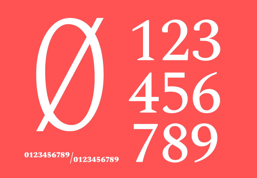 Spectral Font numbers