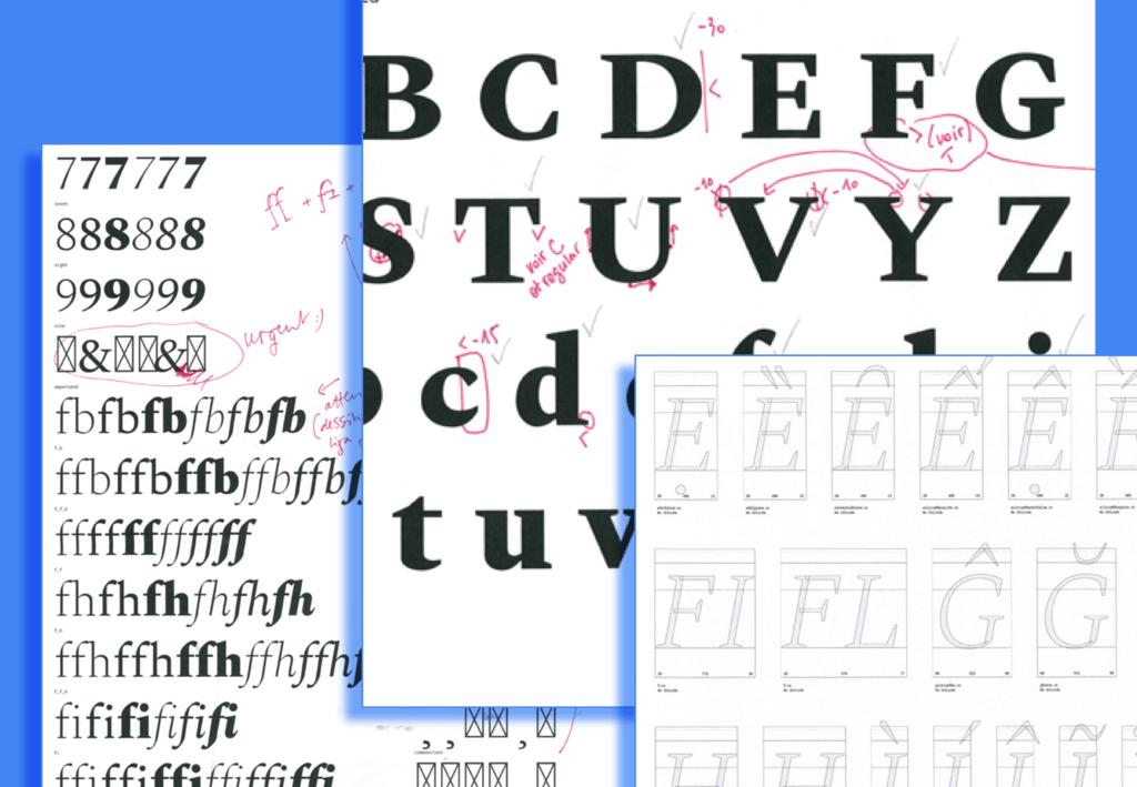 Spectral Font design
