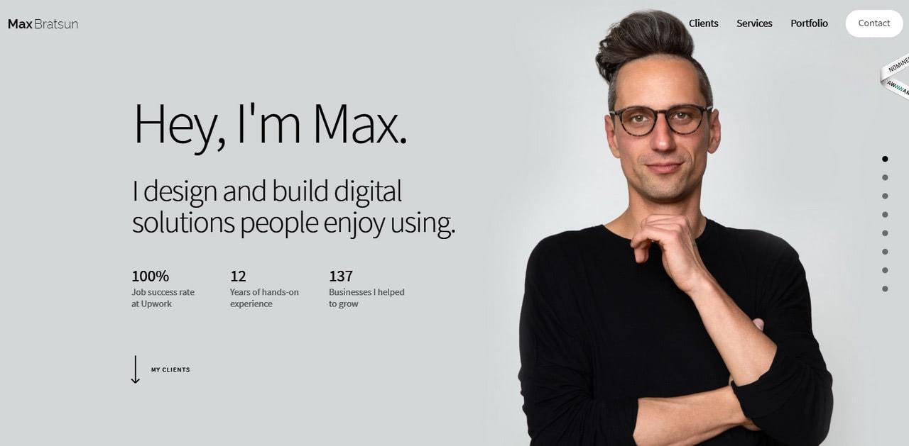 Personal portfolio of Max Bratsun