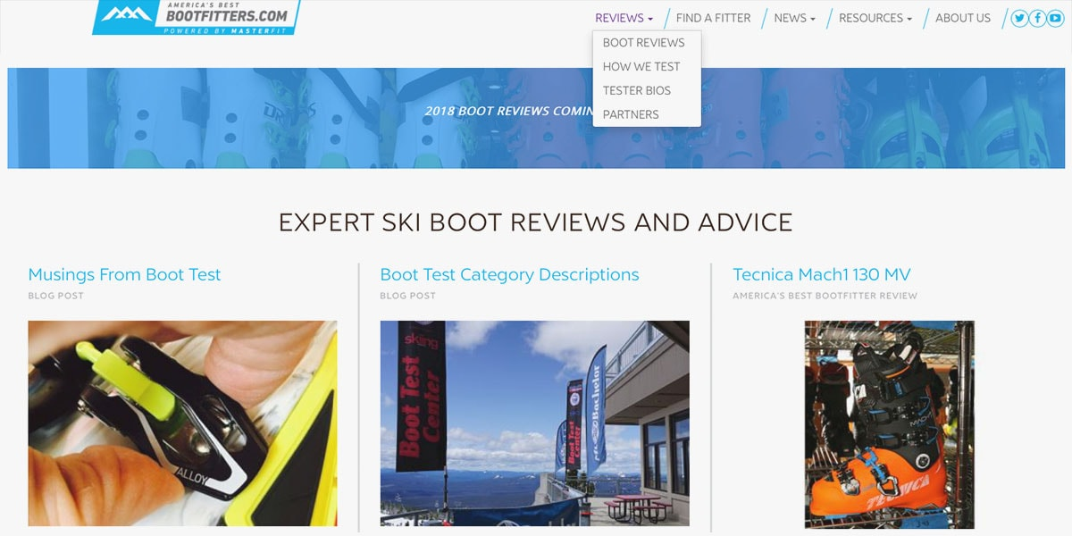 Bootfitters Homepage