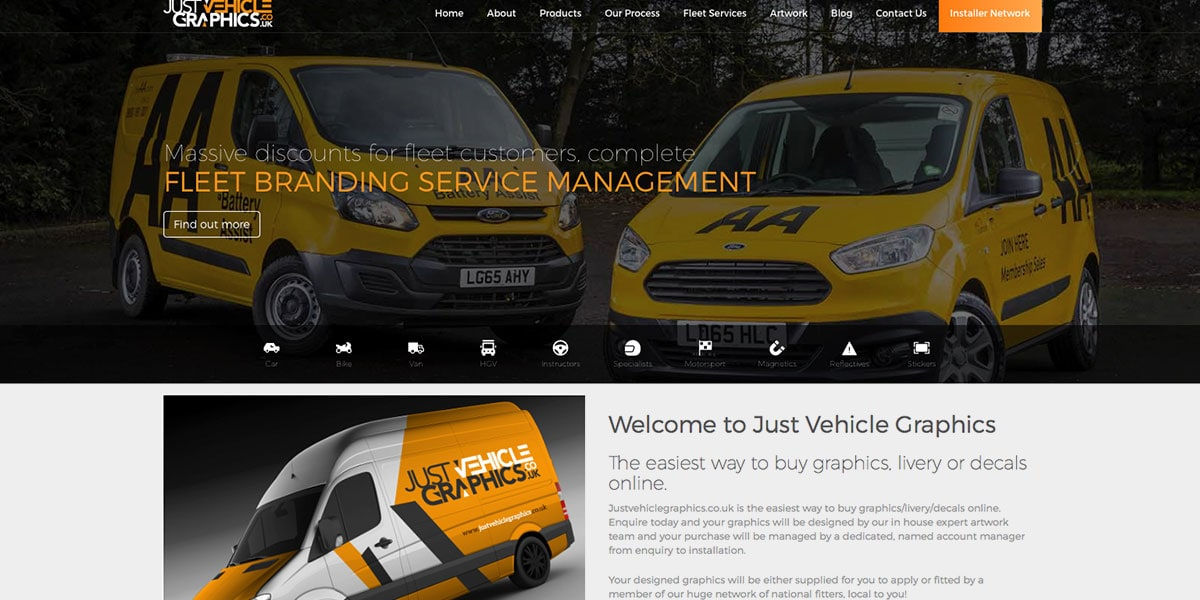 Just Vehicle Graphics Homepage