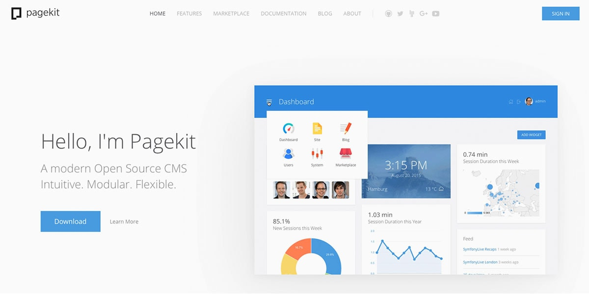 Page Kit CMS Homepage