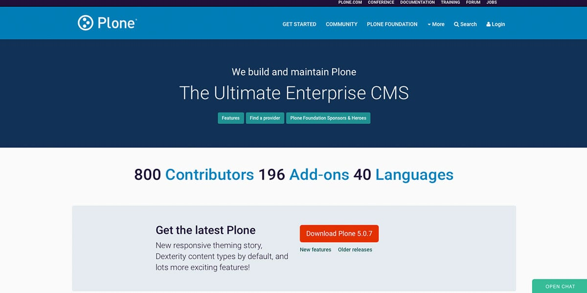Plone CMS Homepage