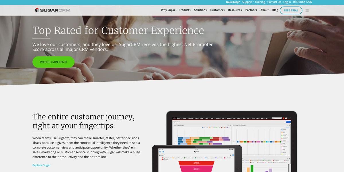 Orange CRM Homepage