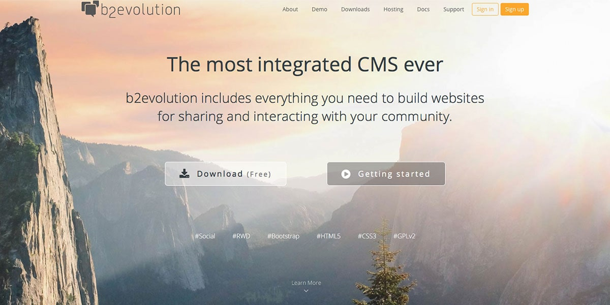 b2evolution CMS Homepage