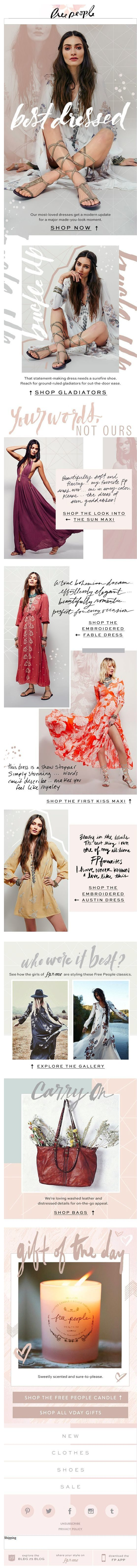 Free People 'Holiday' Email