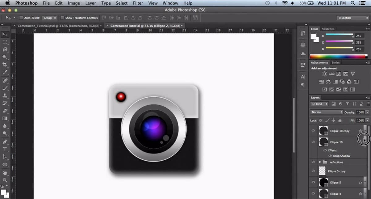 Skeuomorphic Camera Icon