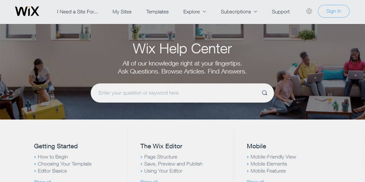 Wix.com Help and Support