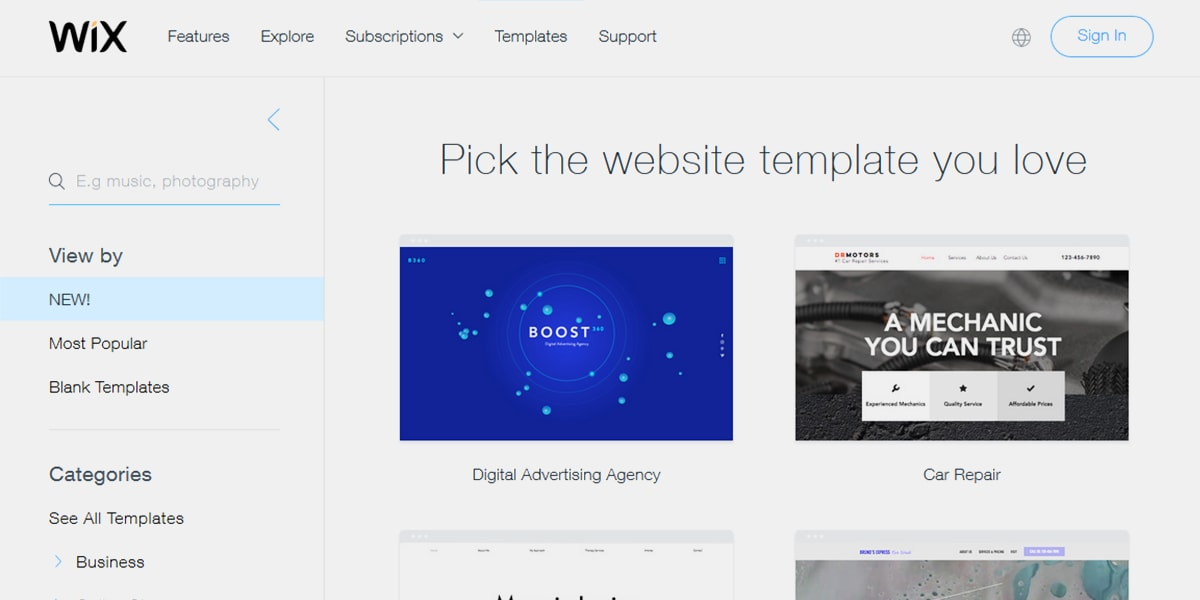 Soft motion the art of animating websites in 2018 for Wix templates for wordpress