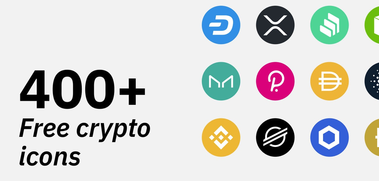 Free Cryptocurrency Icon Packs, Vector Crypto Icons