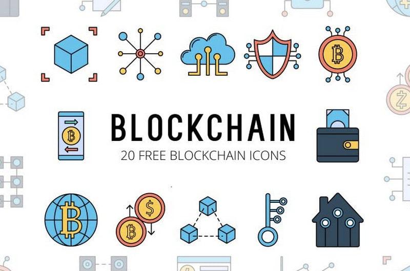 Blockchain Free Vector Icon Set
