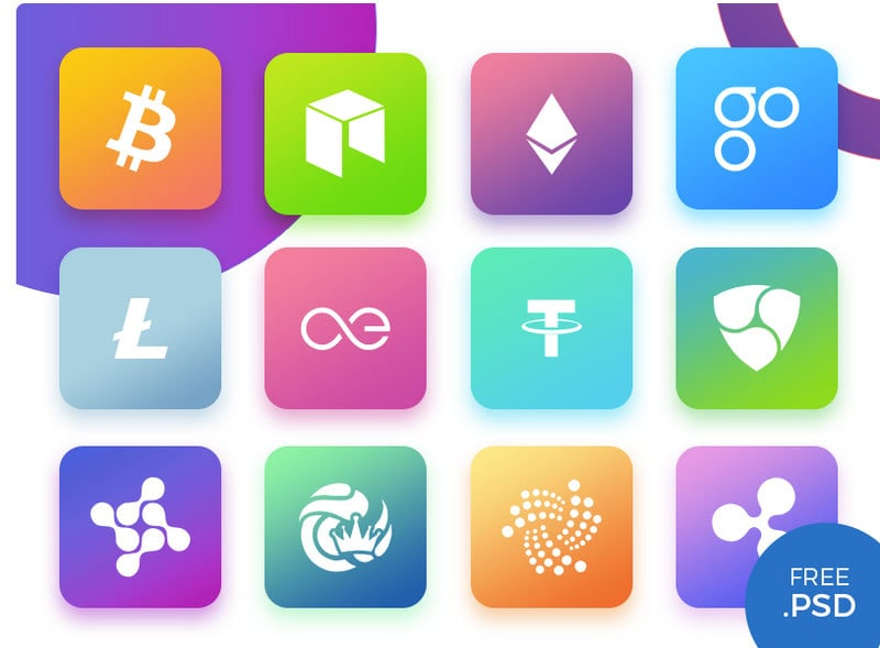 Cryptocurrency Icons by Mansoor Ali Khan