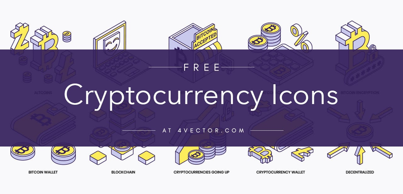 Free Cryptocurrency Icons from 4Vector