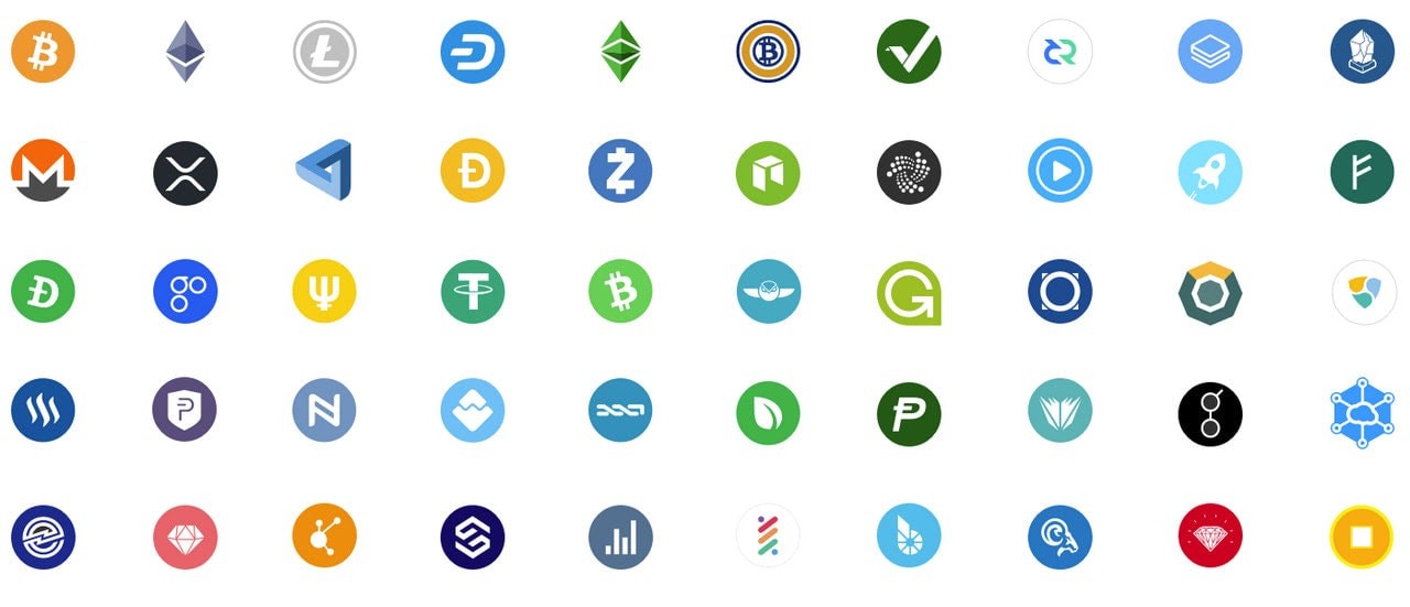 Collection of Free Cryptocurrency Icons