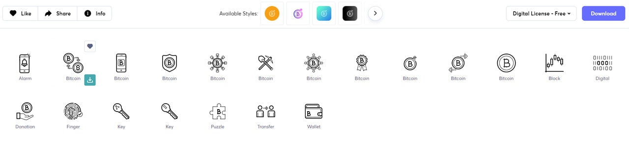 Cryptocurrency Icons