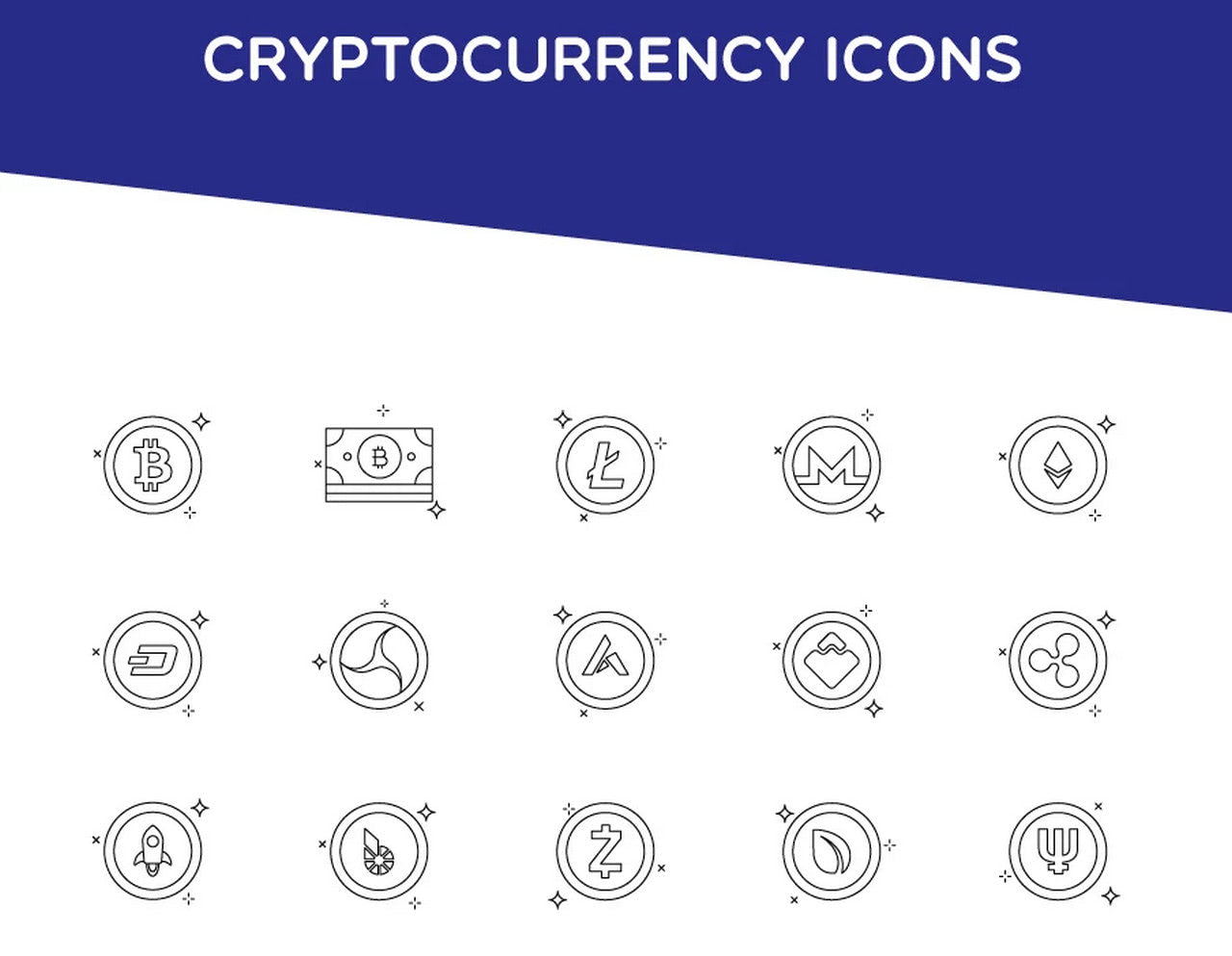 Top 100 Cryptocurrency Icons - Blockchain by Steven Ankri