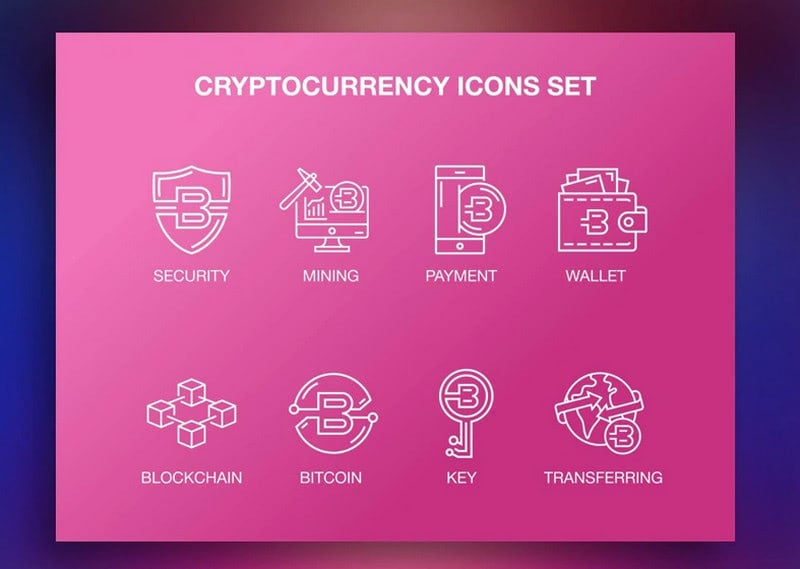 Cryptocurrency Icons Set by Daviann Bespoke
