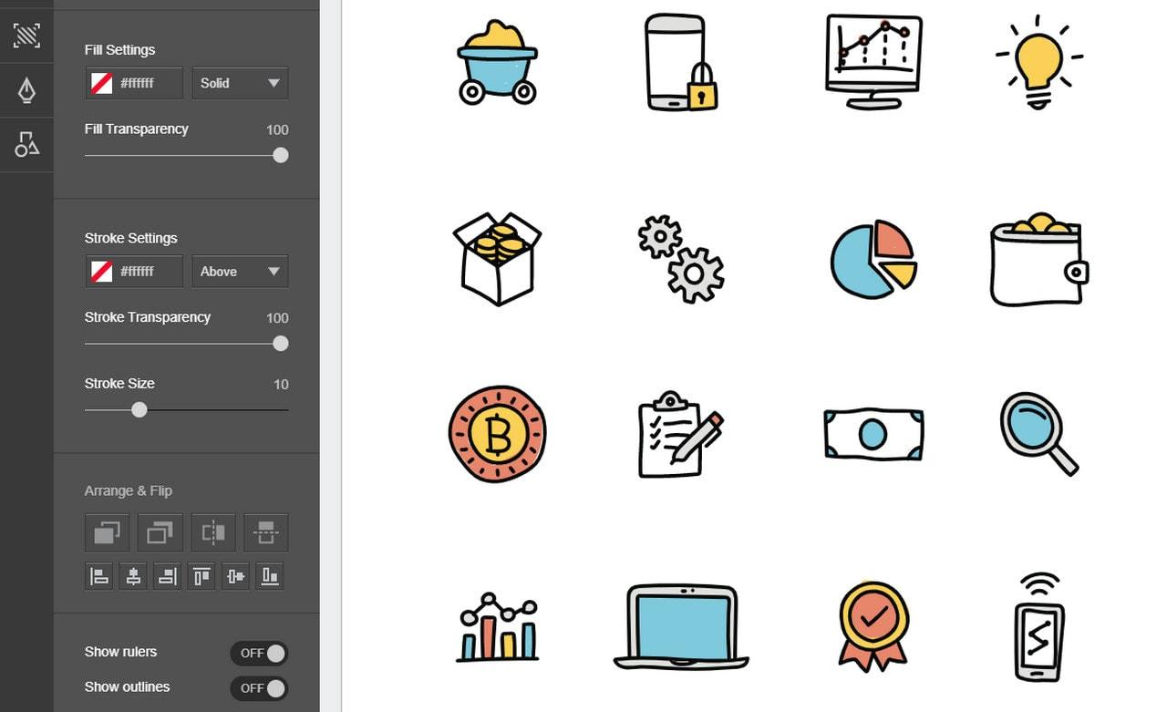 Doodled Set of Data Mining Icons