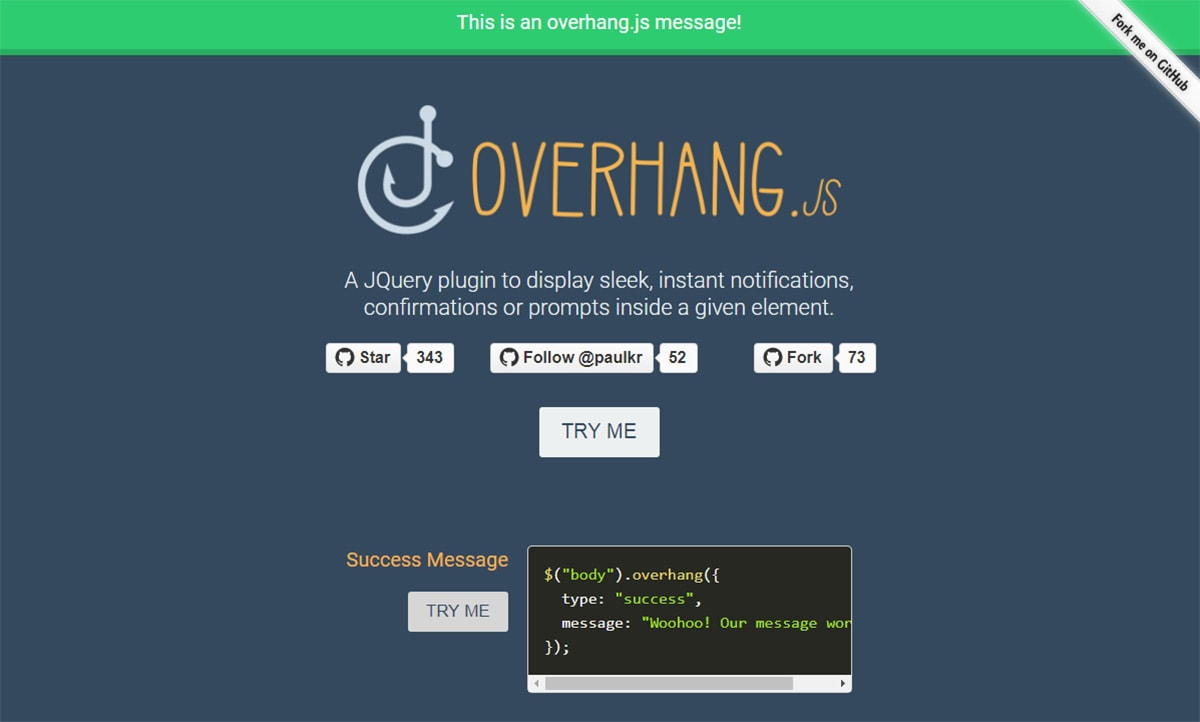11 Free jQuery Notification Message Plugins for Websites