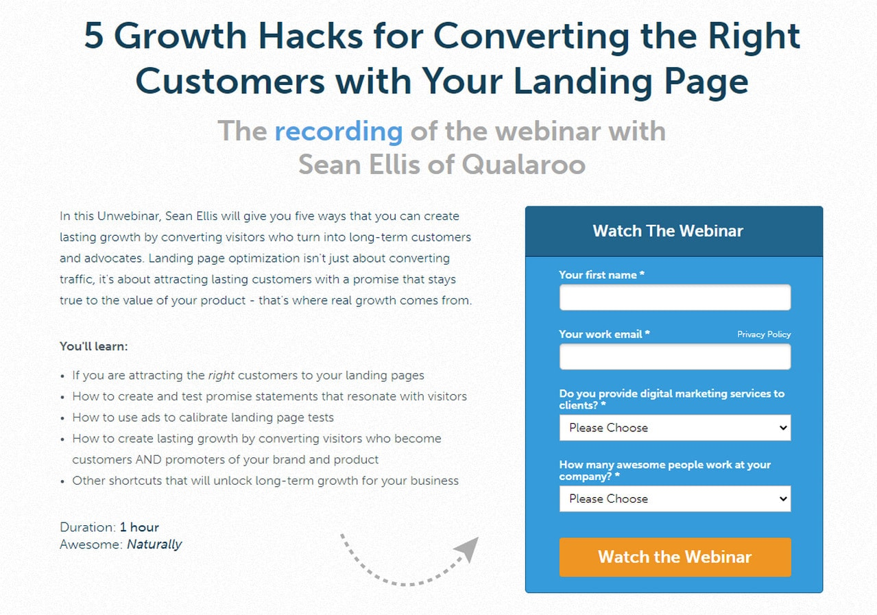 Gated Content Promotion in Unbounce
