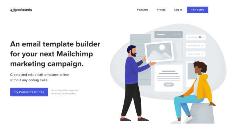 Postcards – Free HTML Email Template Builder with Drag & Drop