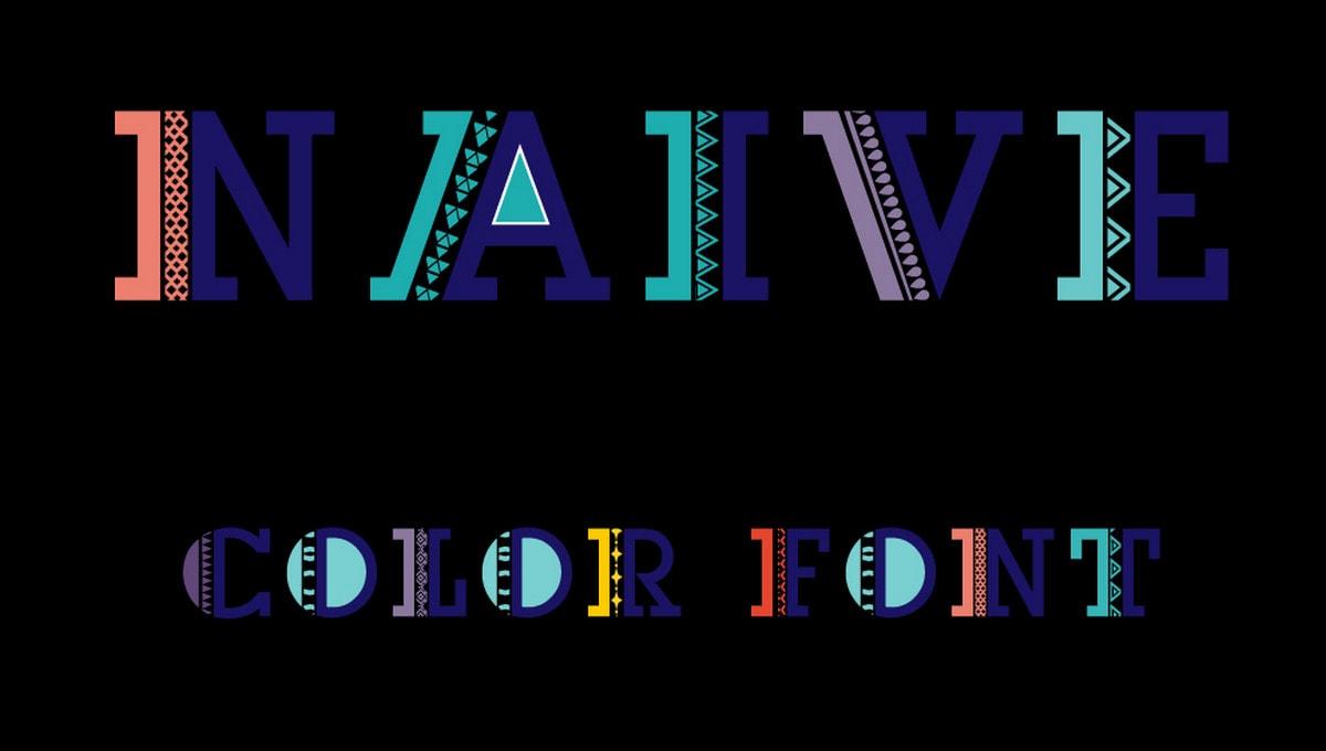 Naive Color Font