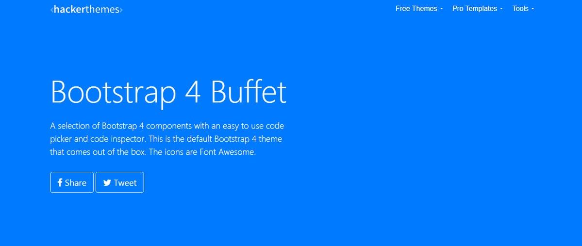 Bootstrap Buffet