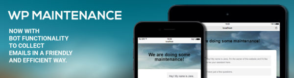 WP Maintenance Mode Updated with Chatbot Functionality