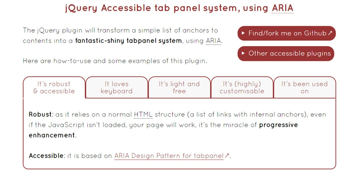 Accessible Tabs