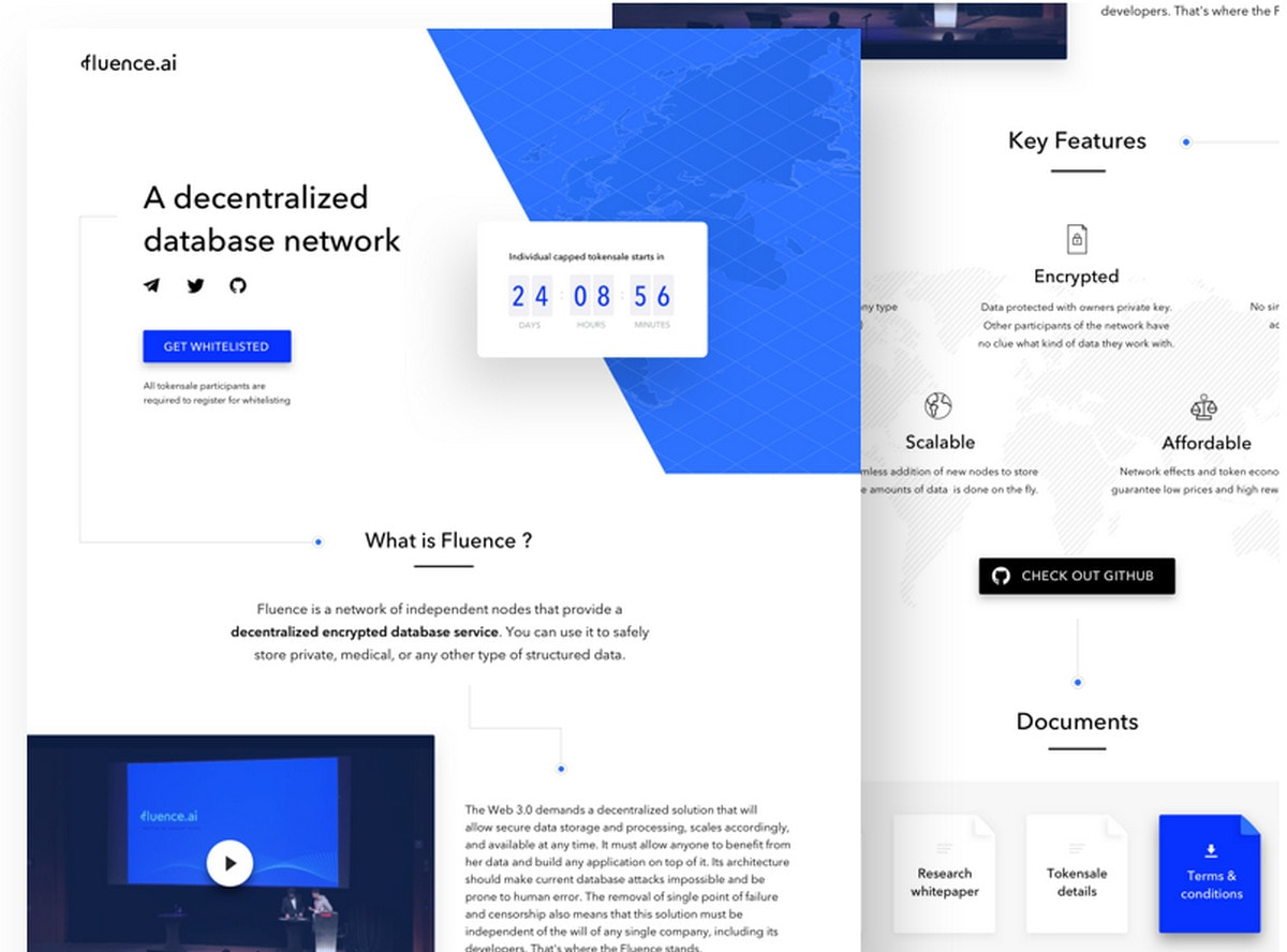 ICO landing page by Nida Orhan