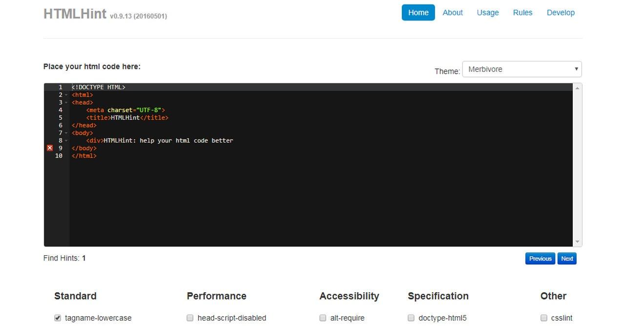 HTML Hint