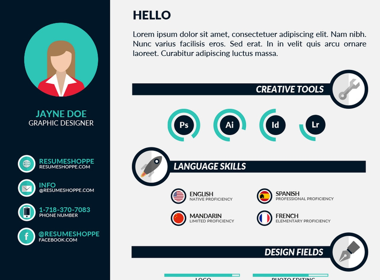 Free And Beautifully Designed Resume Templates